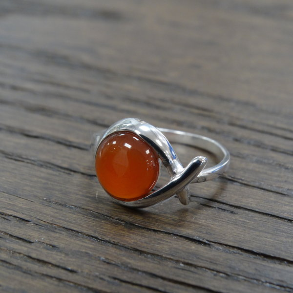 Carneool ring - 925 sterling zilver