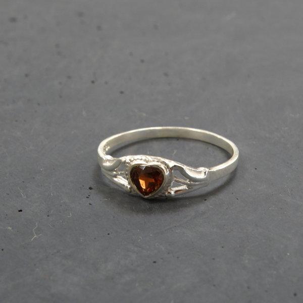 Granaat ring - 925 sterling zilver
