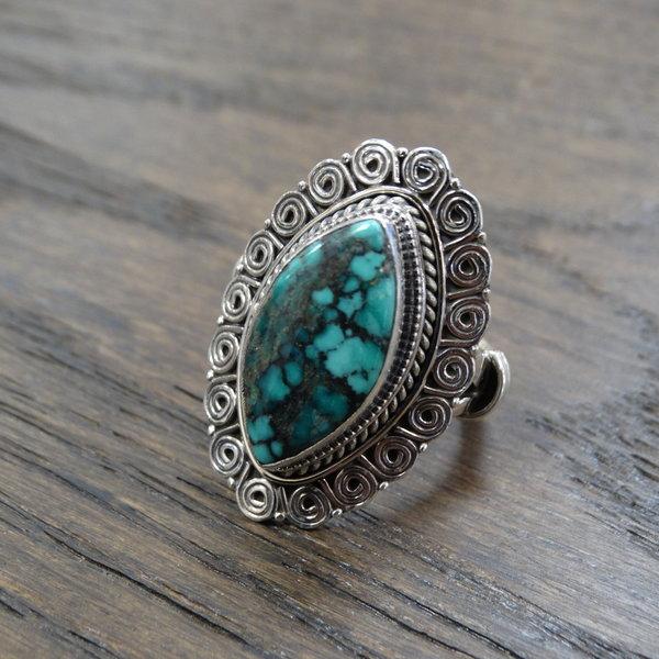 Turkoois ring - 925 sterling zilver
