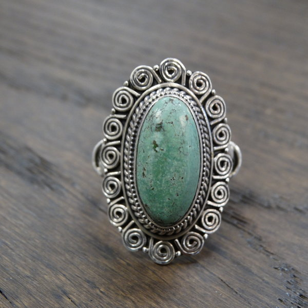 Turkoois ring - 925 sterling zilver