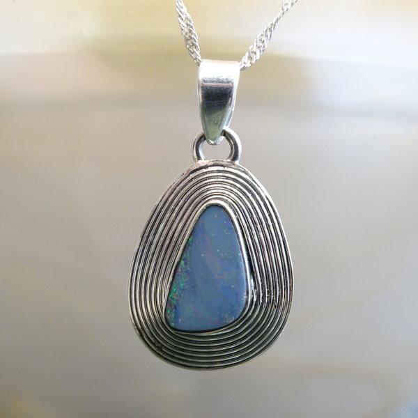 Opaal bedel - 925 sterling zilver