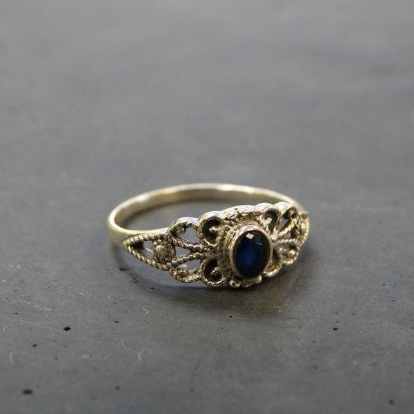 Blauwe Agaat ring - 925 sterling zilver