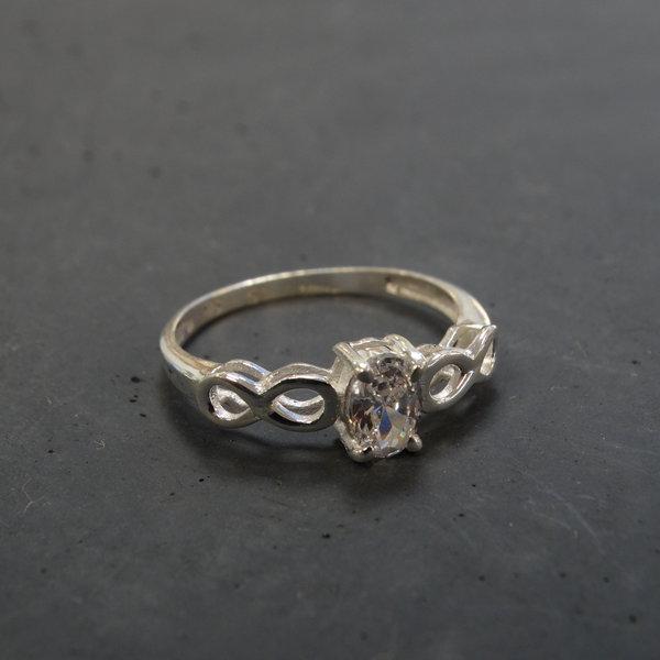 Bergkristal ring - 925 sterling zilver