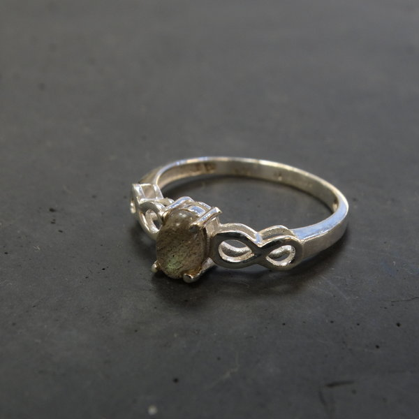 Labradoriet ring - 925 sterling zilver