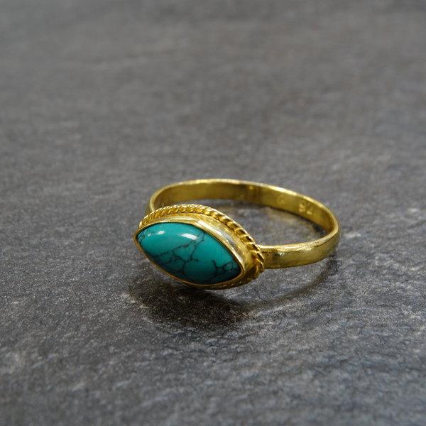Howliet ring - 925 zilver verguld