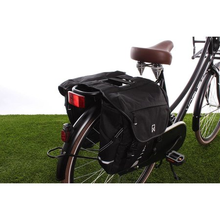 Willex Dubbele fietstas Bagagetas S 1200 Zwart - 20 liter