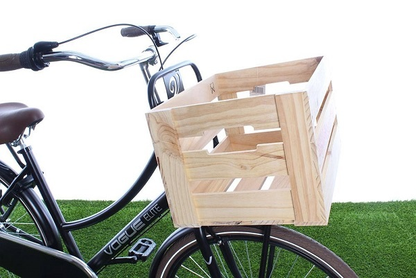 Een houten fietskrat: stoer en stijlvol!