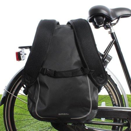 Basil Fietsrugzak Urban Dry Backpack 18L Mat Zwart