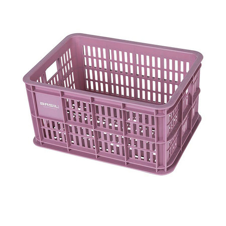 Basil Fietskrat Crate 25L Faded blossom voor MIK en Racktime