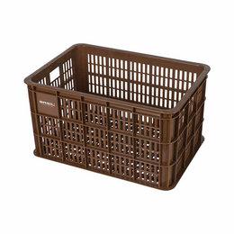 Basil Fietskrat Crate 50L Saddle brown MIK/RT