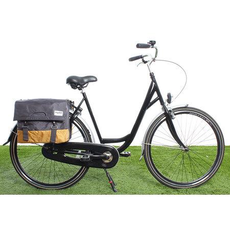 Urban Proof Dubbele fietstas 40L Recycled - Grijs/Geel