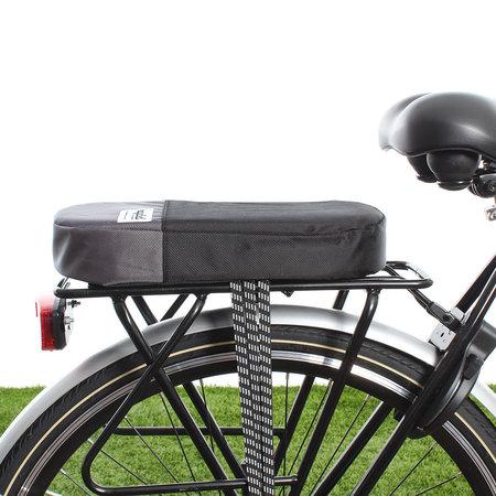 Urban Proof Fietskussen bagagedrager Recycled - Zwart/Grijs