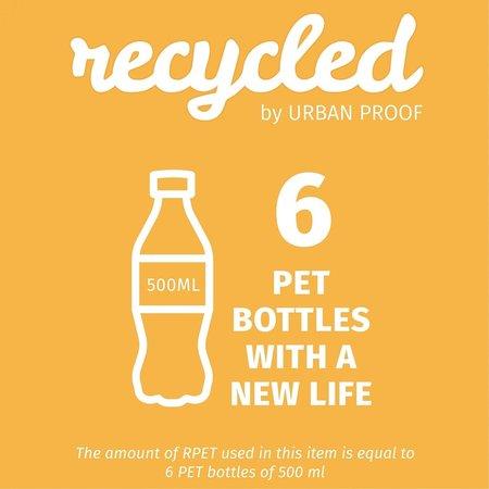 Urban Proof Fietskrathoes Recycled - Grijs/Geel