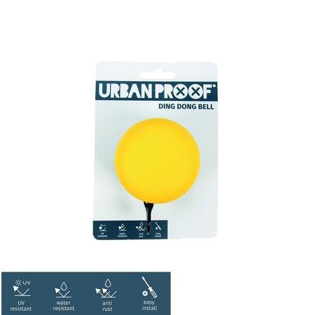 Urban Proof Fietsbel Ding Dong 6 CM Geel/Grijs
