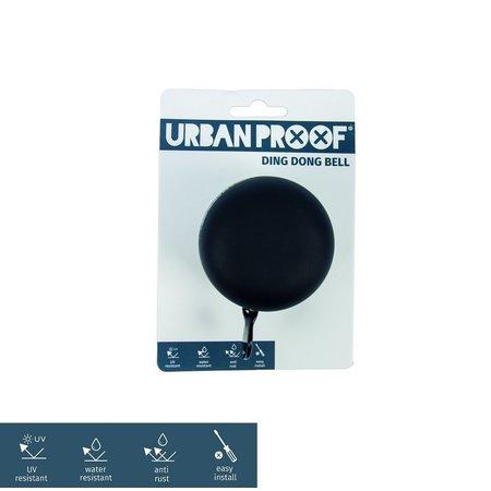 Urban Proof Fietsbel Ding Dong 6 CM Zwart/Grijs