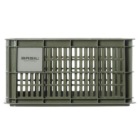 Basil Fietskrat Crate S 17,5L Moss Green voor MIK/Racktime