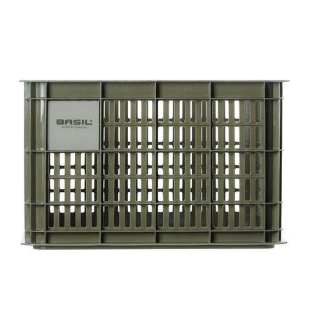 Basil Fietskrat Crate M 27L Moss Green voor MIK/Racktime