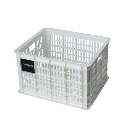 Basil Fietskrat Crate M 27L Bright White voor MIK/Racktime