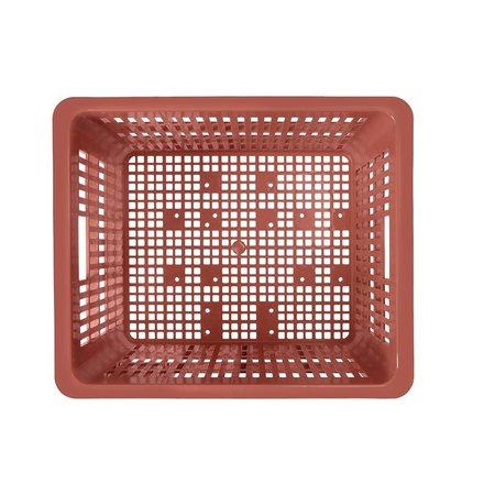 Basil Fietskrat Crate M 27L Terra Red voor MIK/Racktime