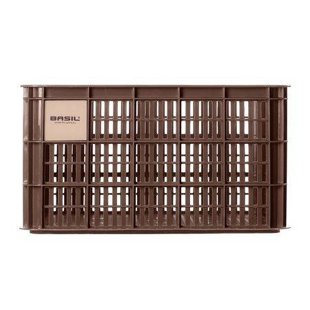 Basil Fietskrat Crate L 40L Chocolate Brown voor MIK/Racktime