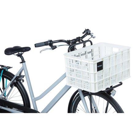 Basil Fietskrat Crate L 40L Bright White voor MIK/Racktime