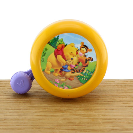 Widek Fietsbel Winnie the Pooh Gelakt Geel