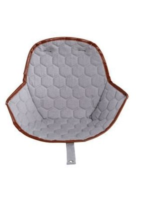 Ovo highchair - stoel kussen grijs honingraat