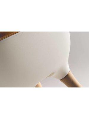 Ovo Ovo highchair - kinderstoel wit met tray en kunststof witte riempjes