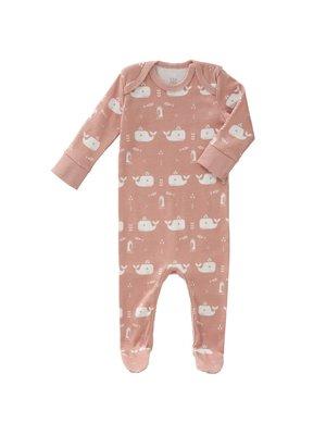 Fresk Fresk pyjama met voetjes Whale Mellow rose