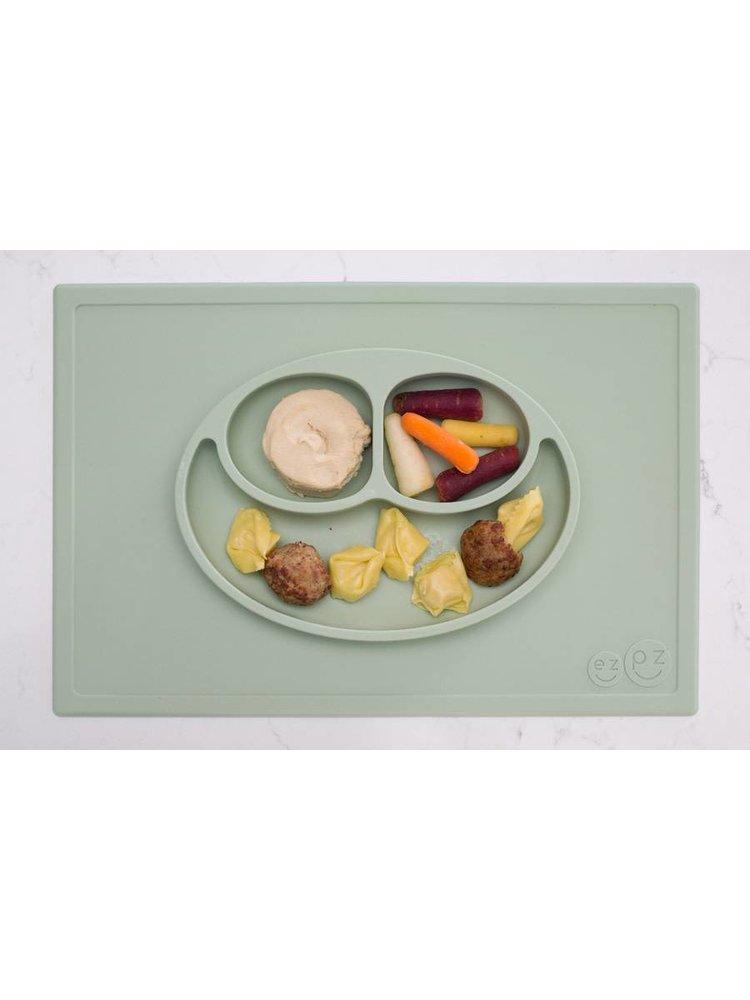 EZPZ EZPZ Happy mat Placemat & plate in one Sage/ Groen