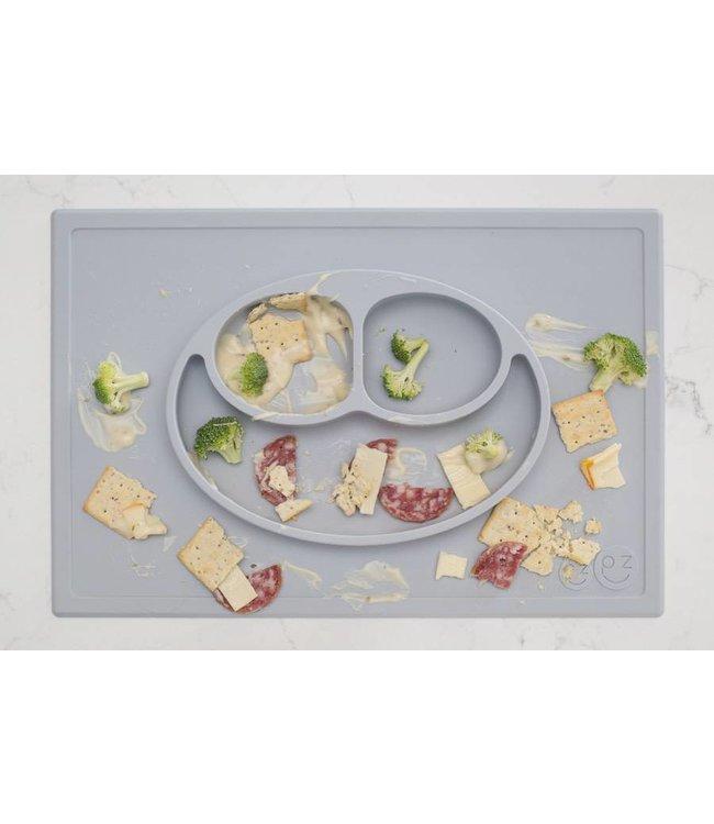 EZPZ EZPZ Happy mat Placemat & plate in one Pewter/ Lichtgrijs