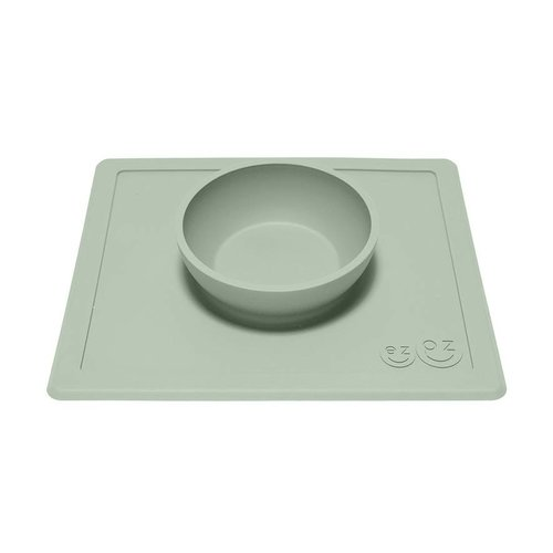 EZPZ EZPZ Happy bowl Placemat & bowl in one Sage/ Groen
