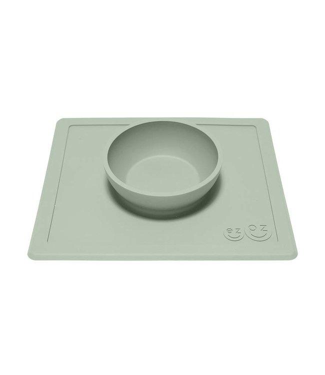 EZPZ EZPZ Happy bowl Placemat & bowl in one Sage/ Groen