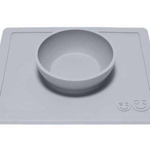 EZPZ EZPZ Happy bowl Placemat & bowl in one Pewter/ Lichtgrijs