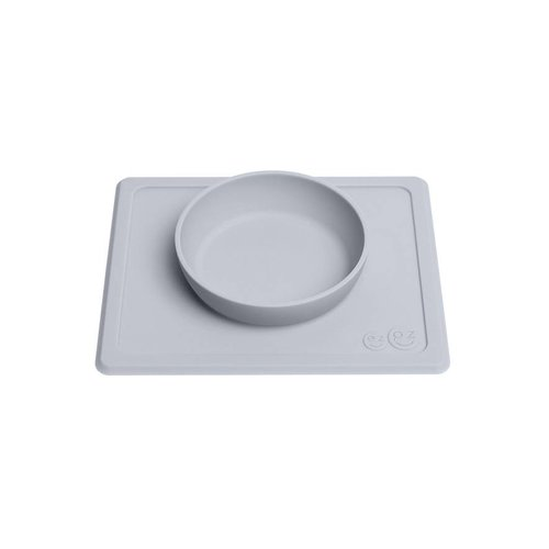 EZPZ EZPZ Mini bowl Placemat & bowl in one Pewter/ Lichtgrijs
