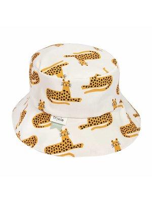 Trixie Zonnehoedje Biologisch katoen met koordje Cheetah