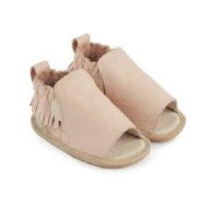 Boumy Boumy leren zomer slofjes open teen Noa Pastel Pink Leather