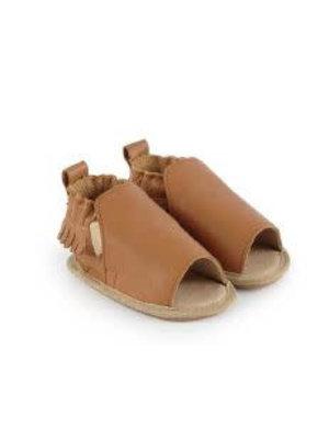 Boumy Zomer slofjes open teen Noa Cognac Leather