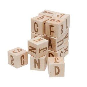 Sebra Sebra Houten alfabet blokken 16 st.