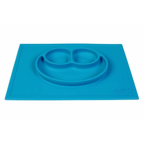 EZPZ EZPZ Happy mat Placemat & plate in one Blue/ blauw