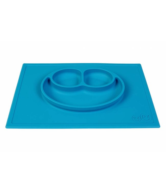 EZPZ EZPZ Happy mat Placemat & plate in one Blue/ blauw