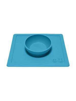 EZPZ EZPZ Happy bowl Placemat & bowl in one Blue/ blauw