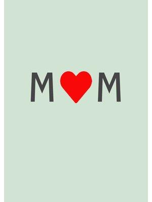 Gnoom Dubbele kaart Mom hartje/ veel liefs!
