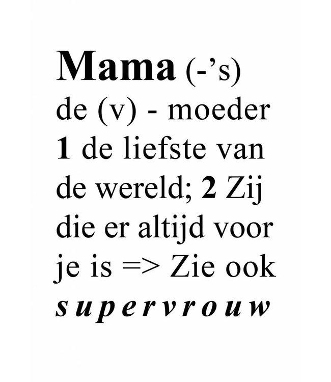 Gnoom Dubbele kaart Mama woordenboek/ veel liefs!