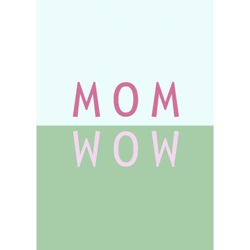 Gnoom Dubbele kaart Mom Wow/ Veel liefs!