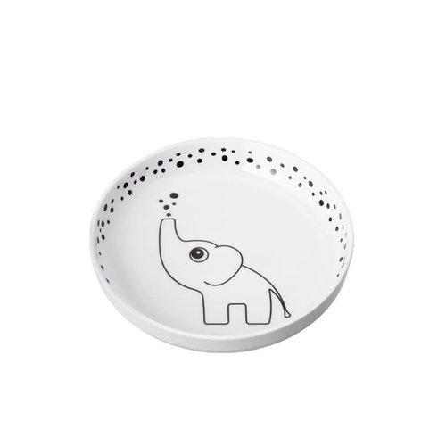 Done by Deer Done by Deer Plate Happy Dots Elphee YummyPlus met anti slip rand Grey