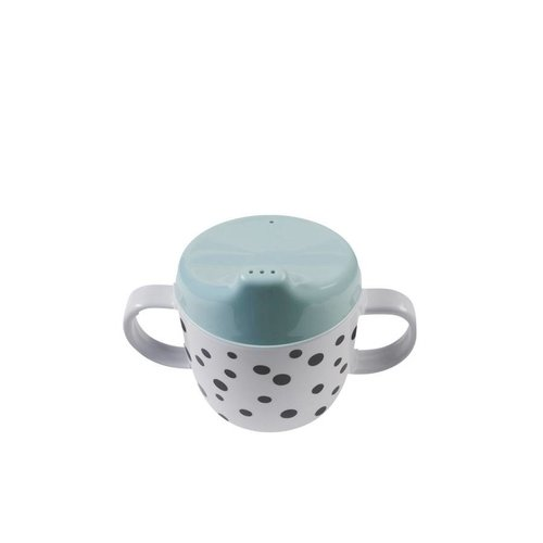 Done by Deer Done by Deer 2-handle cup, Happy dots Blue