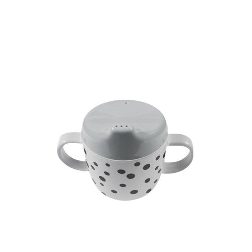 Done by Deer Done by Deer 2-handle cup, Happy dots Grey