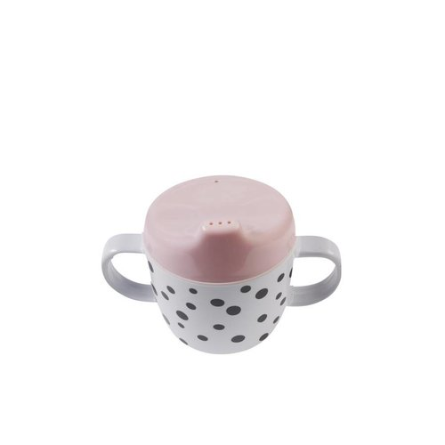 Done by Deer Done by Deer 2-handle cup, Happy dots Powder [roze]