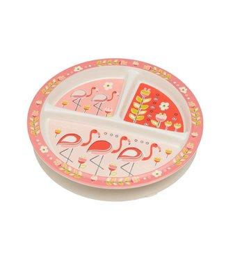 Sugarbooger Sugarbooger Babybordje met zuignap Flamingo
